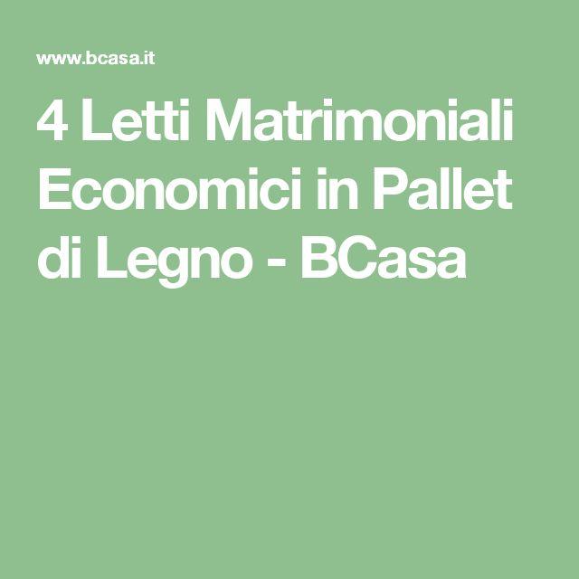 4 Letti Matrimoniali Economici in Pallet di Legno - BCasa