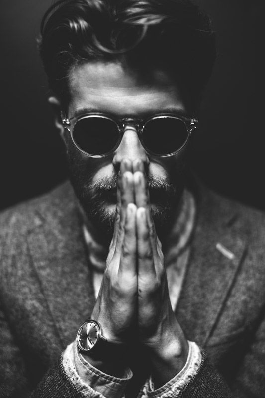 i think its interesting cause he is praying in dhe dark and has glases