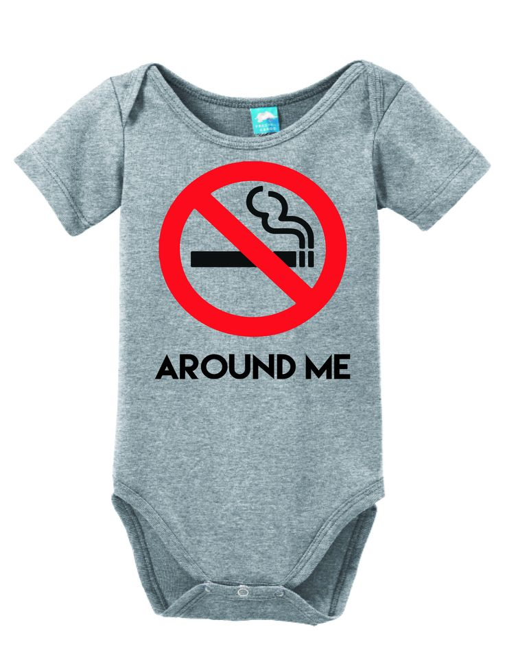 No Smoking Around Me Onesie Funny Bodysuit Baby Romper
