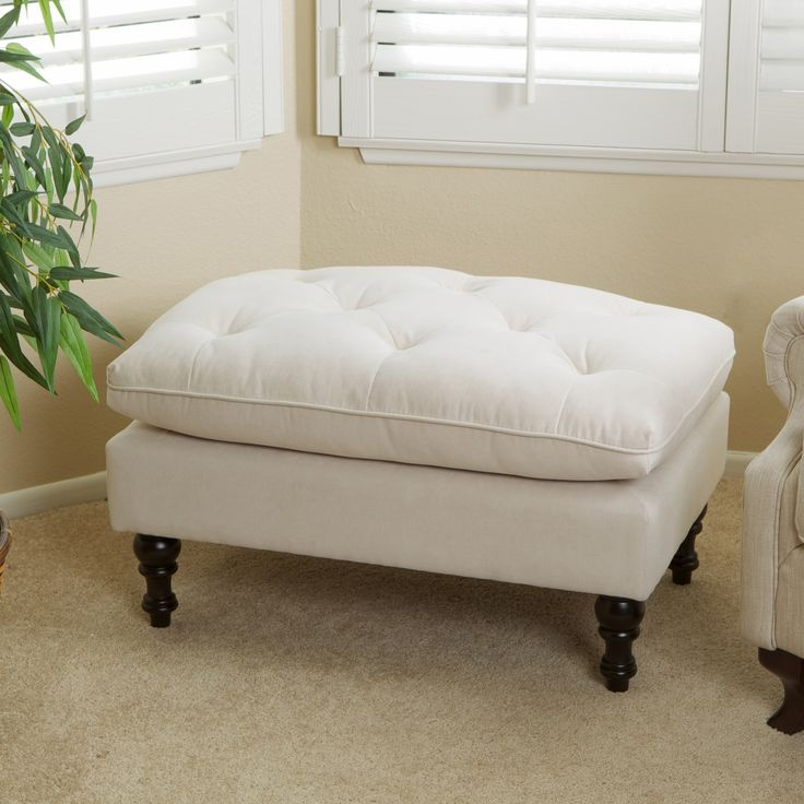 Cordoba Tufted Fabric Ottoman Footstool