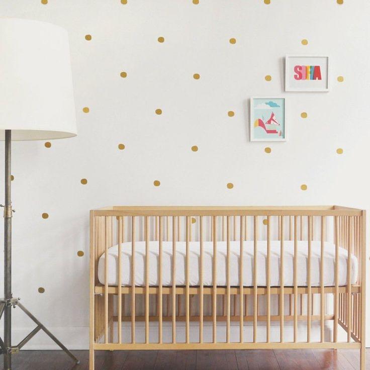 stickers pour chambre de bb fille effet papier peint dor