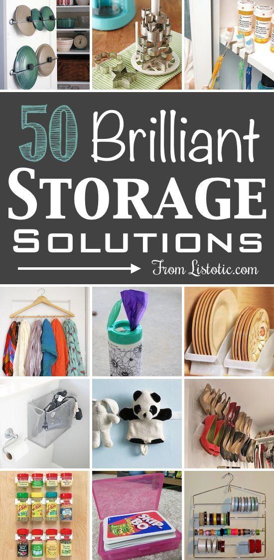 Declutter - 50 brilliant storage ideas.  #cuttheclutter