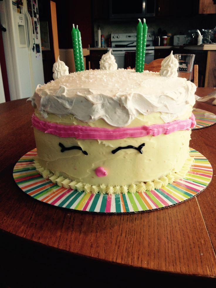 Homemade Wishes Shopkins Birthday Cake