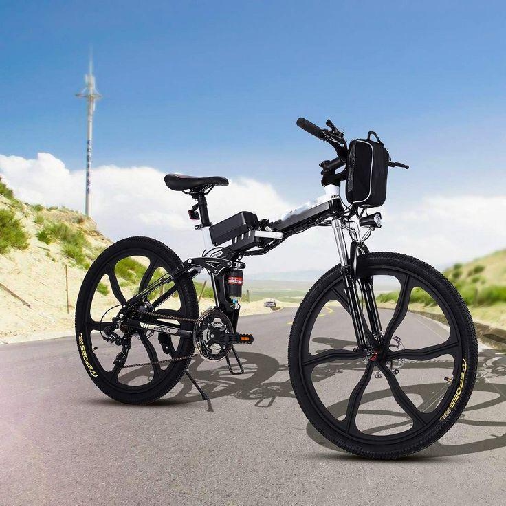Teamyy Vélo Homme Pliant-Electrique Mountain Bike Noir pas cher prix promo Vélo électrique Amazon 782.99 €