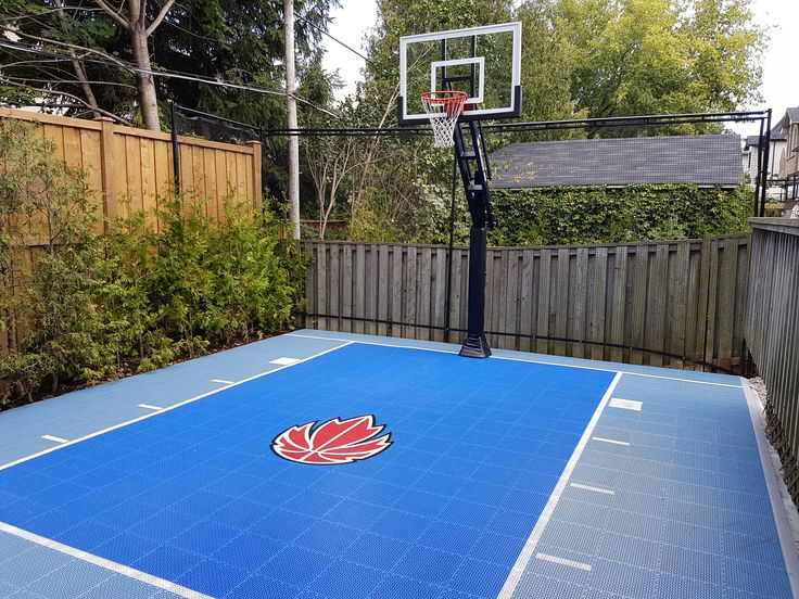 20 x 28 backyard court with our bounceback shocktower court surface