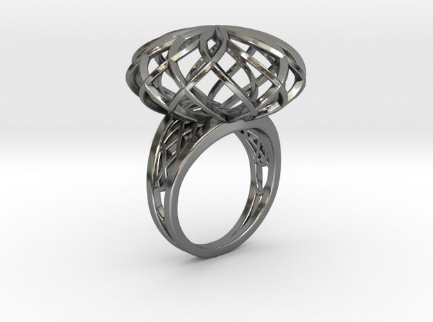 Tennis Seam Curve Twin Ring (001) by Fluid_Designer