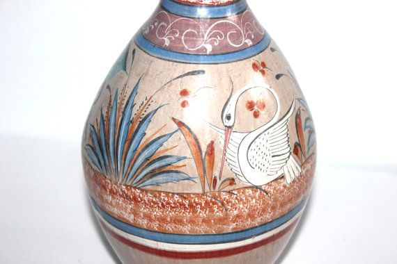 Vintage Painted Mexican Pottery Tonala Large by AntiqueAlchemyShop, $30.00