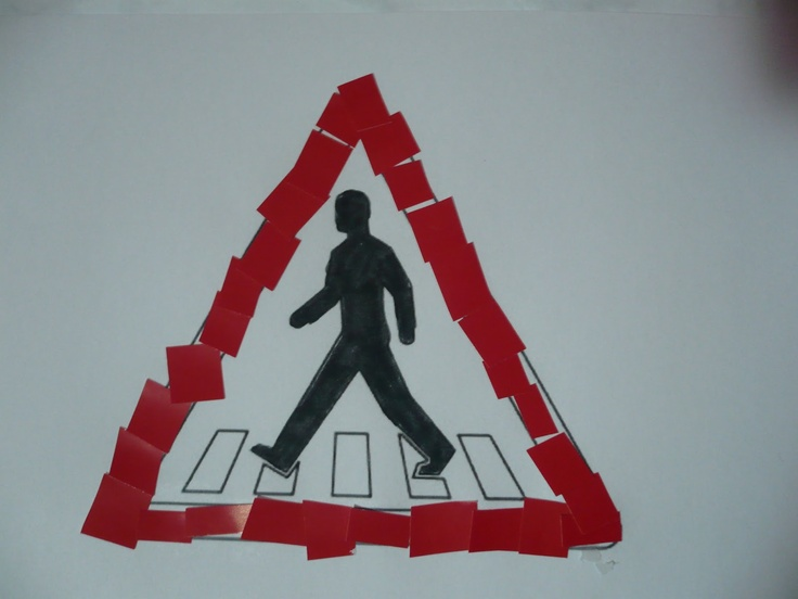 Maro's kindergarten: traffic signs collages  #transpprtationcrafts