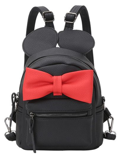 Shop Contrast Oversized Bow Tie Embellished Backpack online. SheIn offers Contrast Oversized Bow Tie Embellished Backpack & more to fit your fashionable needs.