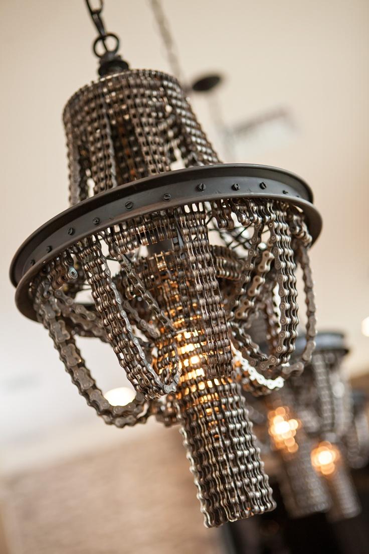 316 best chandelier images on pinterest crystal chandeliers recycled bike chain chandelier via studio ten 25 arubaitofo Gallery