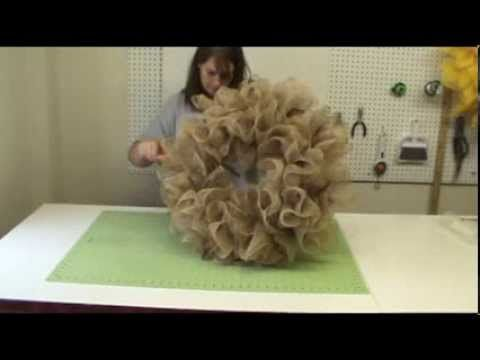 Basic Burlap Ruffle Wreath Tutorial Great explanation ; )