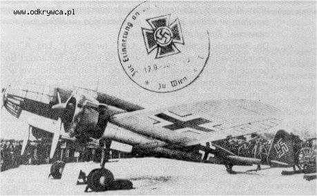 Pzl P 37 B Łoś, przejęty przez Niemców.