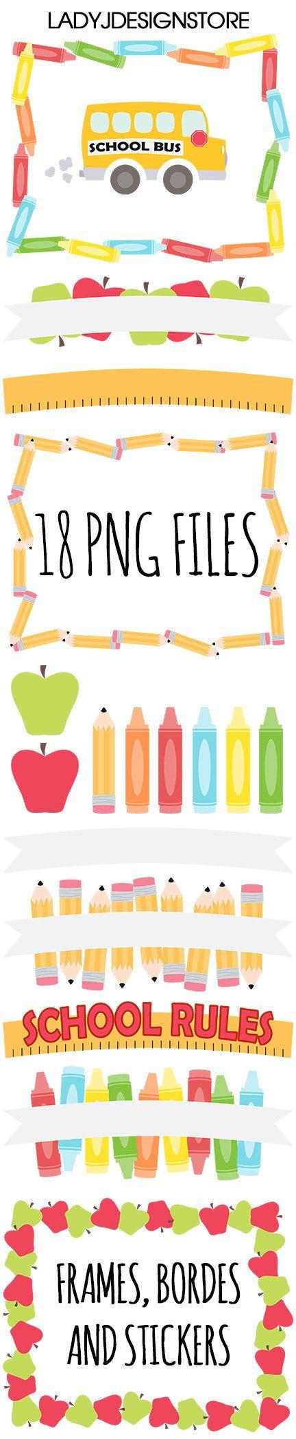 Volver a escuela Clip Art  arte de Clip de Crayon  días de