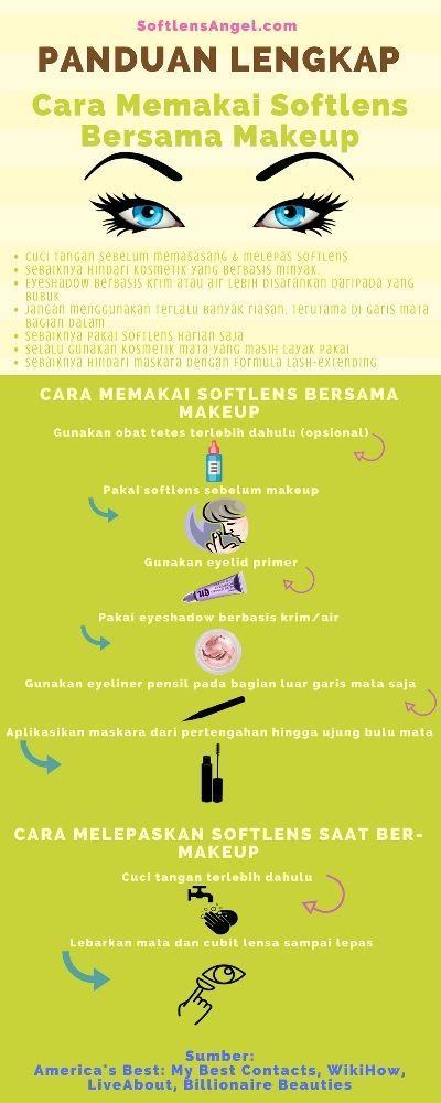 Panduan lengkap cara memakai softlens bersama makeup