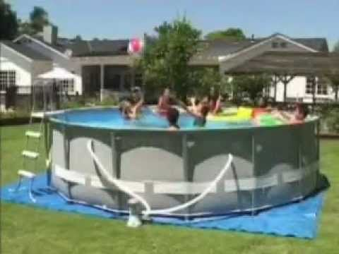 Montaje piscina intex circular ultra frame 549x132 cm ref - Piscine intex ultra frame rectangulaire ...