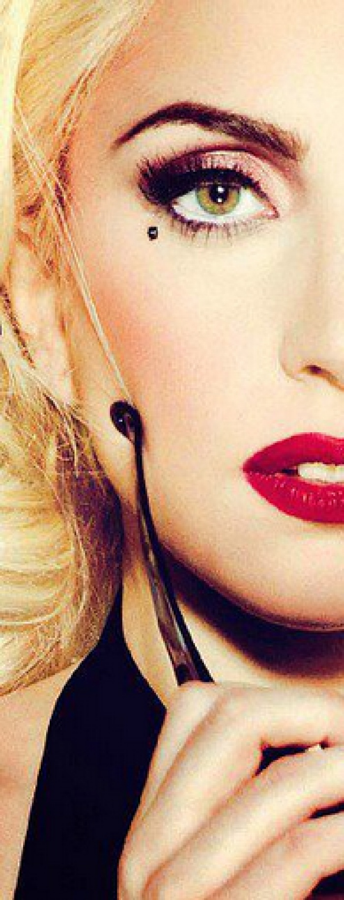 lady gaga in red #mirabellabeauty #red #lips