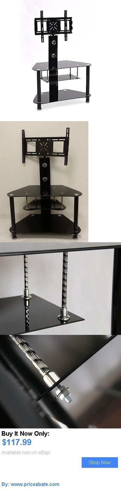 Entertainment Units, TV Stands: Hodedah Howard Glass Tv Stand With Mount BUY IT NOW ONLY: $117.99 #priceabateEntertainmentUnitsTVStands OR #priceabate
