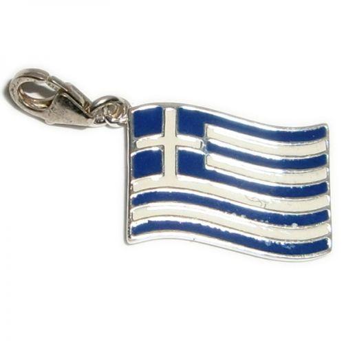 Charm, Pendentif, Argent, Émaillé, Drapeau, Grèce | eBay