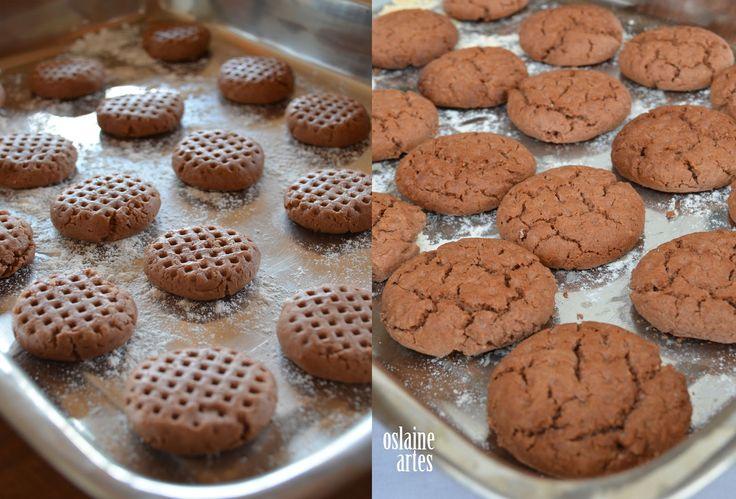 Bolachinhas com Manteiga de Amendoim e Chocolate