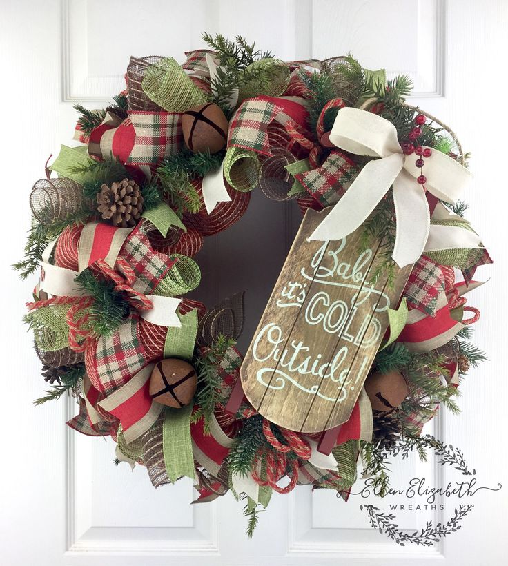 Winter Wreaths for front door Rustic Winter