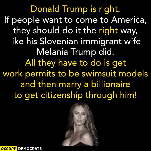 Funny Donald Trump Pictures and Viral Images: Donald Trump's Immigrant Wife Melania