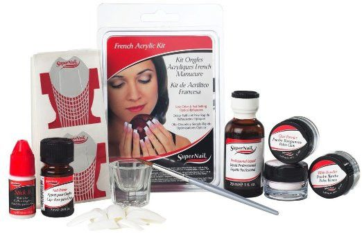 SuperNail French Acrylic Kit – Creating this classic look has never been simpler. Our liquid sets fast, and you'll get perfect smile lines with our custom-fit French Tips. Includes everything you need in four complete sets.  Includes: 20 Nail Tips 20 Nail Forms 1 Sculpting Brush