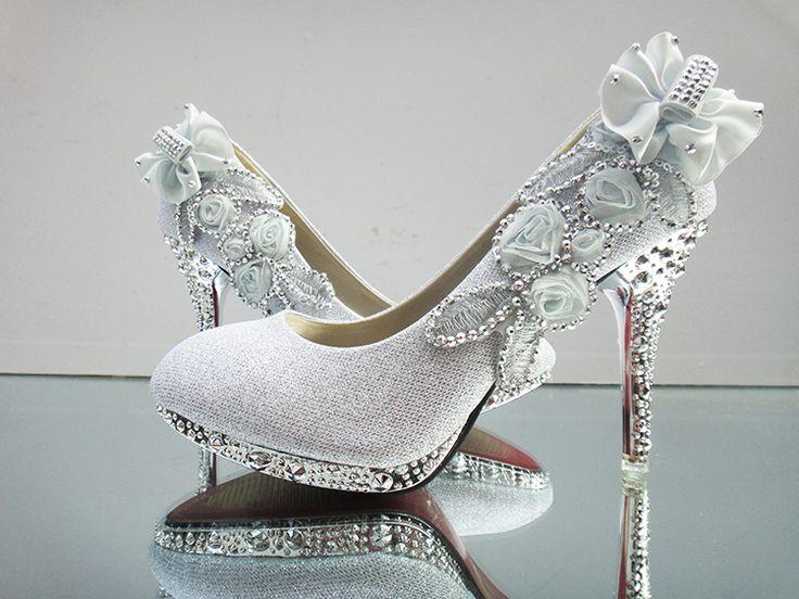 2016 novas mulheres sapatos de casamento da noiva vermelho fino sapatos de salto alto sapatos de dama de honra vestido de casamento de ouro 7 cores tamanho eua 4 - 10 alishoppbrasil