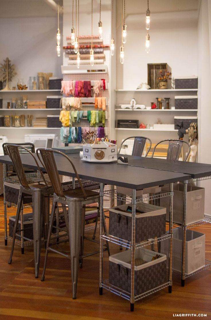 Looking for gorgeous, inspiring craft room ideas? Take a look at the craft studio of handcrafted lifestyle expert Lia Griffith here.
