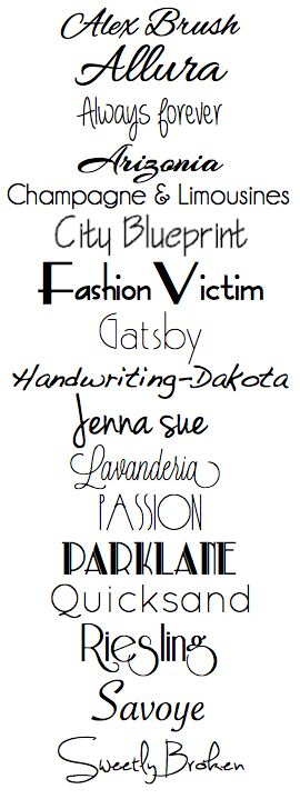 HCBC - Hand Crafted by Chameray: My favorite fonts for Silhouette Sketch pens