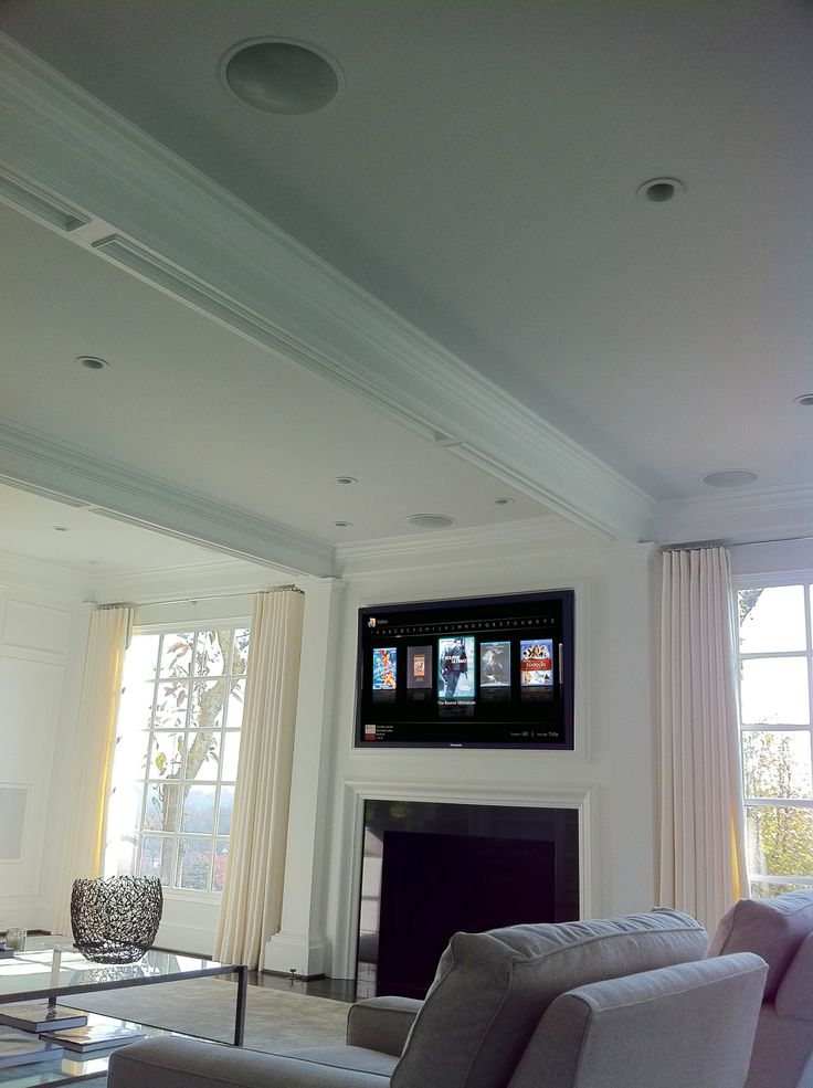 Fireplaces Surround Sound Systems And Living Room Setup On Pinterest