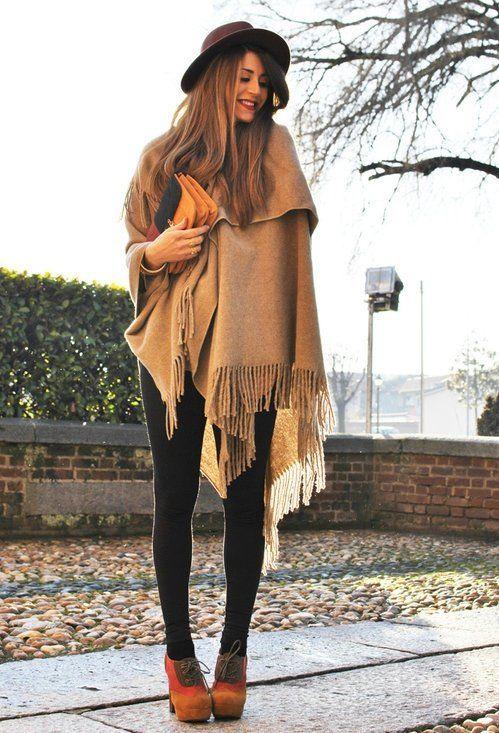 #poncso #brown #poncho