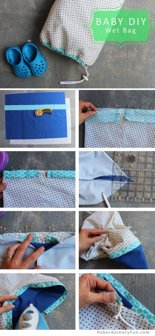 Make A Drawstring Wet Bag- for kids, baby, and you. Been wanting one for a while.