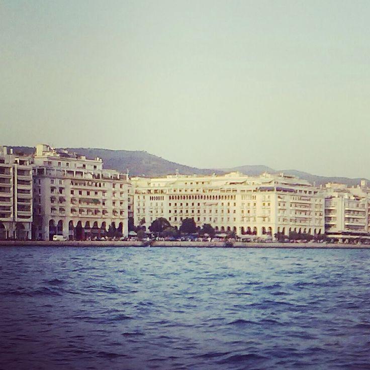 Thessaloniki's port view, Greece