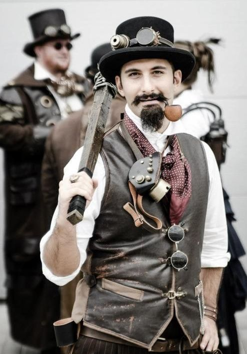 I Love This Guys Costume. Not Too Over Done But Not Too Minimalistic Either. | BadAss Steampunk ...