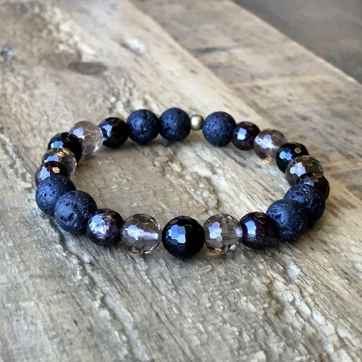 'Grounding' Root Chakra Aromatherapy Lava Rock and Gemstones Diffuser bracelet – Lovepray jewelry #rootchakrajewelry