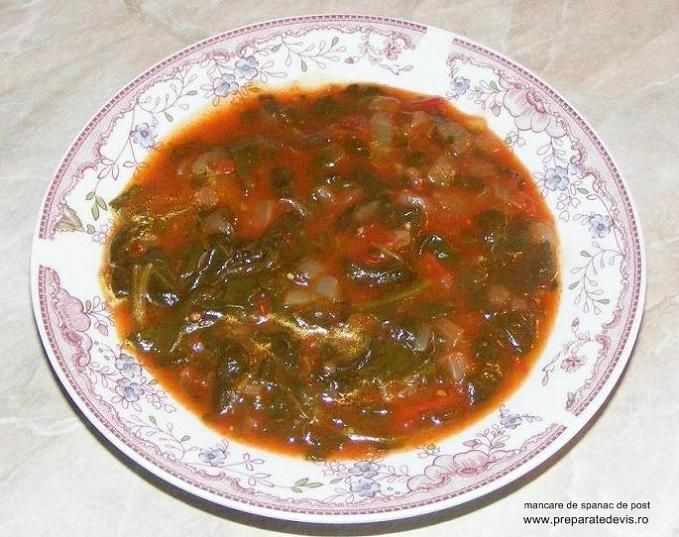 Spinach Recipes - Mancare de spanac cu rosii si usturoi