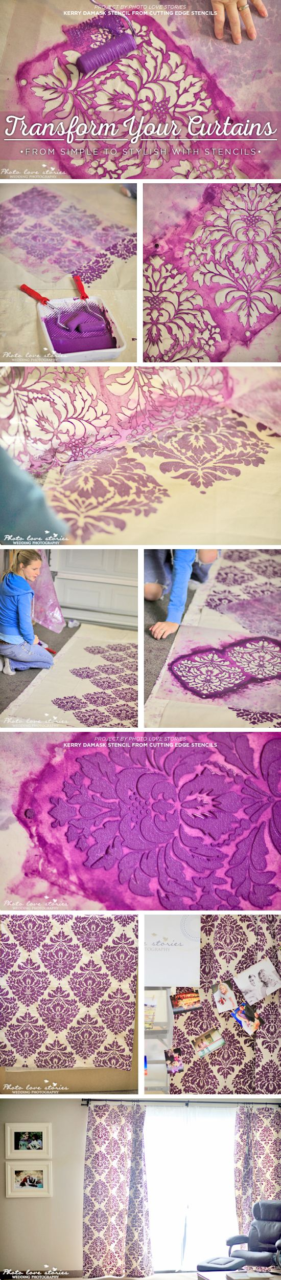 368 best stenciling has come a long way from ivy vines images on cutting edge stencils shares how to stencil curtains using the kerry damask stencil http amipublicfo Gallery