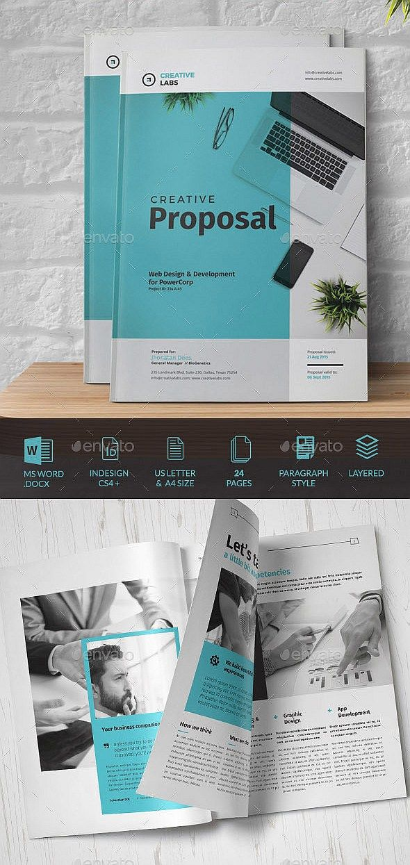 24 Pages Creative Business Proposal Template Indesign Brochure