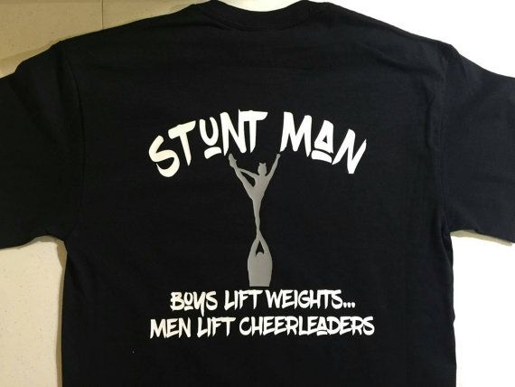 Check out this item on Etsy  https://www.etsy.com/listing/274740110/male-cheerlesder-shirt #stuntman #boycheerleader