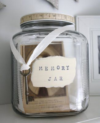 I stumbled upon this charming suggestion on Pinterest recently and wanted to share it with you.  I am going to find a suitable jar, decorate it prettily and round up the receipts, ticket stubs and …