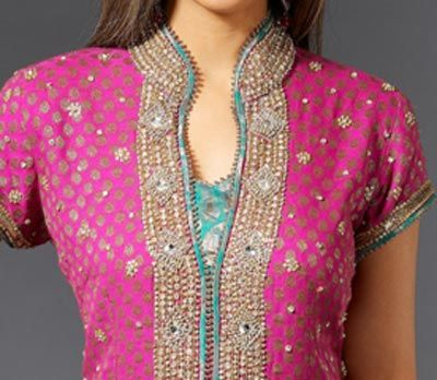 indian embroidered neckline - Google Search