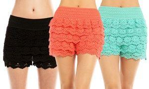 3-Pack of Ladies' Lace Shorts (Sizes S/M & M/L)