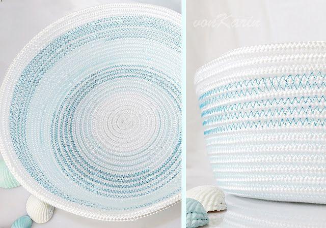 DIY ... alles vonKarin : DIY: Noch mehr Körbe aus Seil