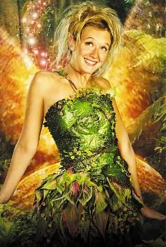 "The details and coloring of her dress is interesting. Tinkerbell from the 2003 ""Peter Pan"" movie."