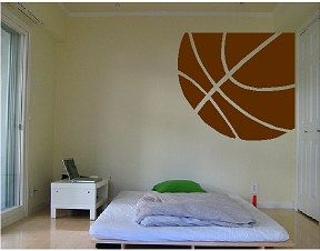 HUGE Basketball WALL DECAL by liveoakpro on Etsy, $25.00