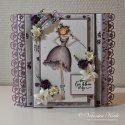 Vår kjære gjestedesigner Veronica: ♥ Tryllekort i varme lillatoner ♥