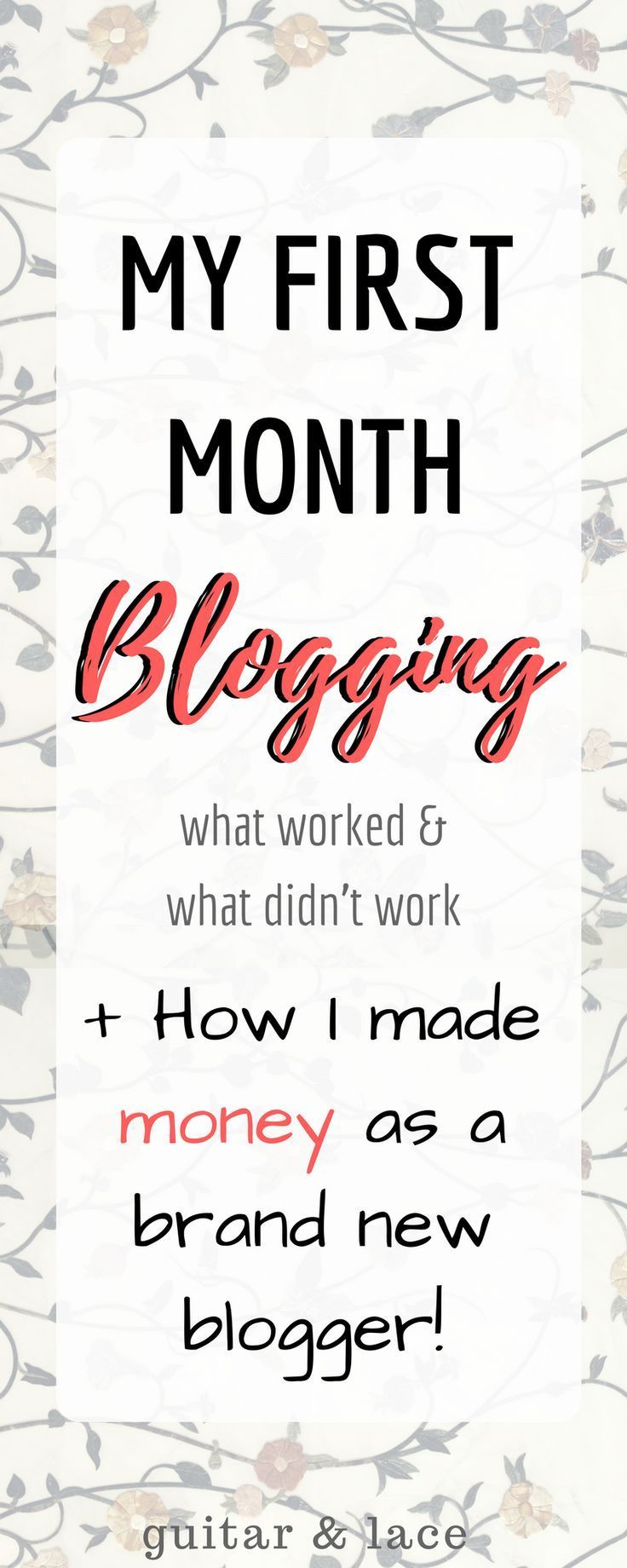 After my first month of blogging I have gained more views, followers and even made money! If I can do it, anyone can do it!