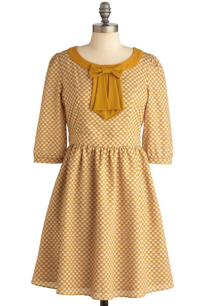 The Gold and the New Dress | Mod Retro Vintage Dresses | ModCloth.com