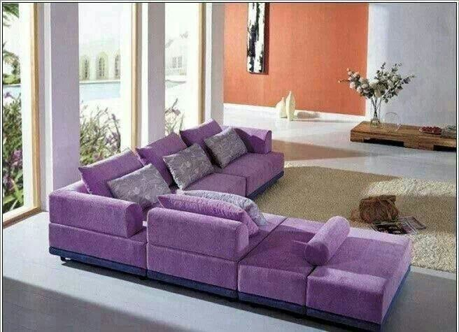 Purple L shape sofa