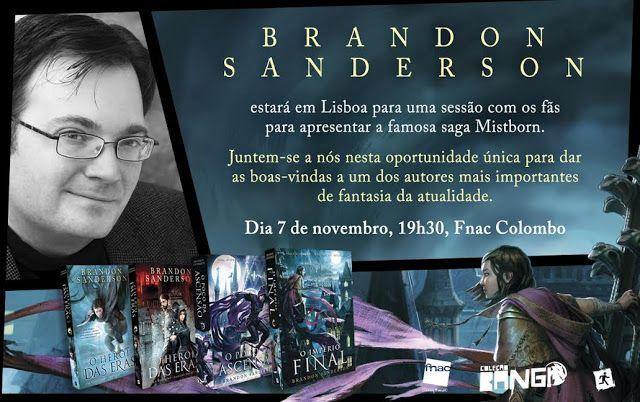 Sinfonia dos Livros: Brandon Sanderson em Lisboa | Saída de Emergência